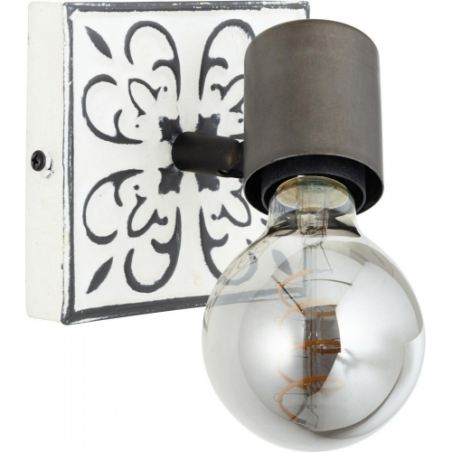 Vagos black&white rustic wall lamp Brilliant