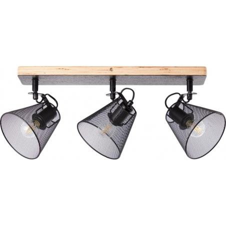 Whole III black&wood mesh ceiling spotlight Brilliant
