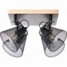 Whole IV black&wood mesh ceiling spotlight Brilliant