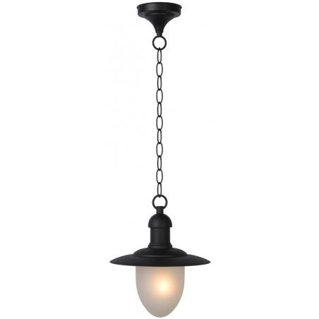 Stylowa Lampa zewnętrzna wisząca Aruba 25 Czarna Lucide przed dom, na taras i do ogrodu.