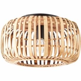 Woodrow 39 light wood&black bamboo ceiling lamp Brilliant