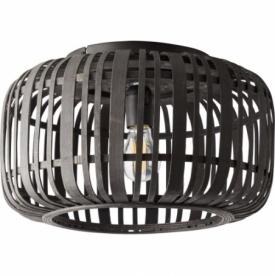 Woodrow 39 dark wood&black bamboo ceiling lamp Brilliant