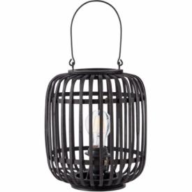Woodrow II dark wood&black bamboo table lamp Brilliant