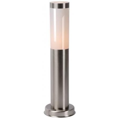 Stylowa Lampa ogrodowa stojąca Kibo 7 Lucide. Jej kolor to chrom a styl nowoczesny.