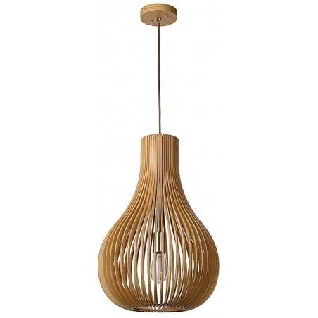 Bodo 38 birch wooden pendant lamp Lucide