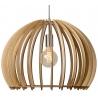 Stylowa Lampa wisząca drewniana Bounde 50 Lucide do salonu. Kolor brzoza