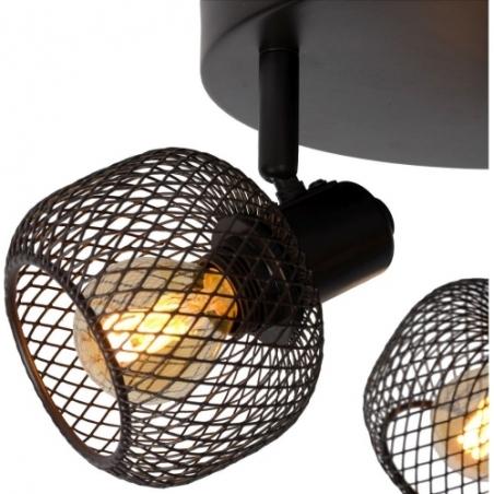 Maren III black mesh ceiling spotlight Lucide