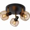 Maren III brass&black mesh ceiling spotlight Lucide