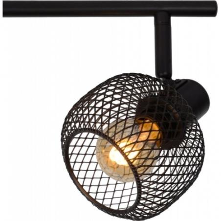 Maren IV black mesh ceiling spotlight Lucide