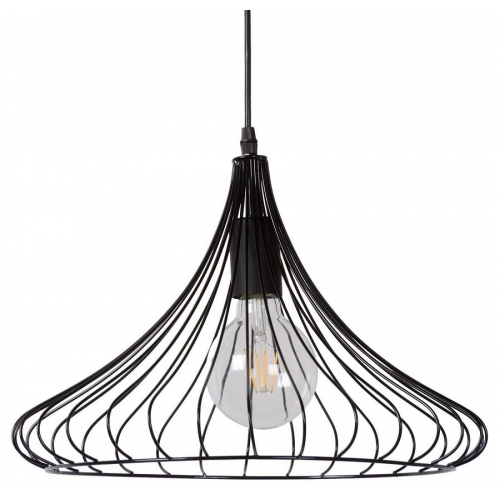 Stylowa Lampa wisząca Vinti 39 Lucide nad stół. Kolor czarny