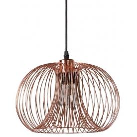 Stylowa Lampa miedziana wisząca Vinti Copper Round 30 Lucide do salonu o ciekawym kształcie. Styl nowoczesny.
