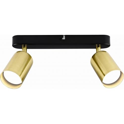Koncpet II gold double ceiling spotlight Auhilon