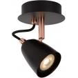 Czarna lampa podłogowa Winston