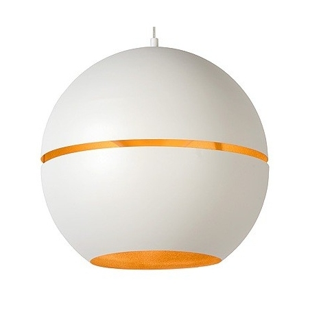 Stylowa Lampa wisząca Binari 35 Lucide do salonu. Kolor biały