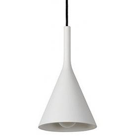 Stylowa Lampa gipsowa wisząca Gipsy III 16 Biała Lucide nad wyspę w kuchni.