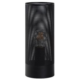 Designerska Ażurowa lampa stołowa Beli Black 12 Lucide do salonu. Kolor czarny