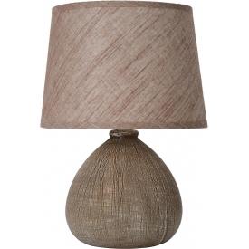 Designerska Lampa betonowa stołowa Ramzi 26 Brązowa Lucide do sypialni.