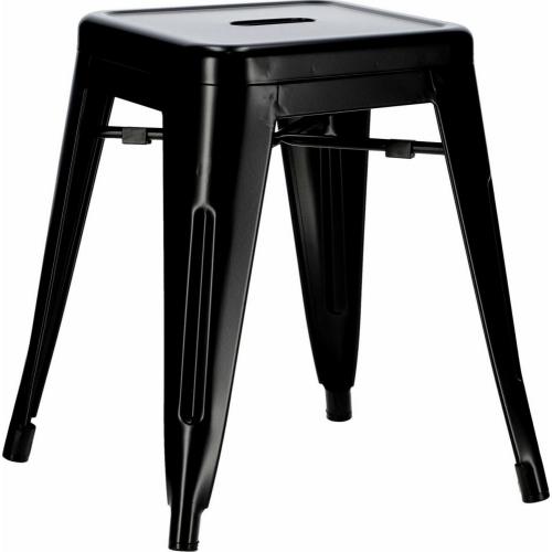Paris black industrial metal stool...