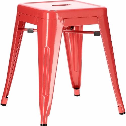 Paris red industrial metal stool...