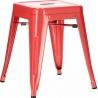 Stylowy Taboret metalowy Paris Czerwony D2.Design do kuchni i przedpokoju.