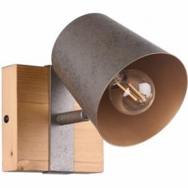 Bell nickel antique&wood industrial wall lamp  Trio