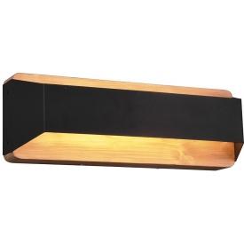 Arino Long wood&black wall lamp Trio
