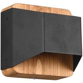 Arino wood&black wall lamp Trio