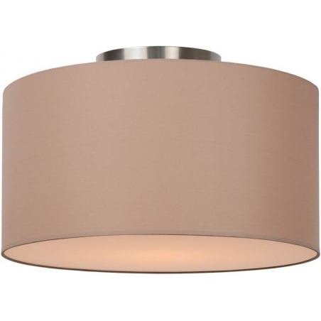 Coral 35 beige round ceiling lamp with shade Lucide