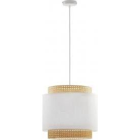 Boho 38 white rattan pendant lamp TK Lighting