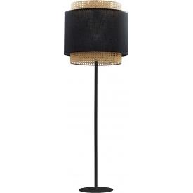 Boho 38 black rattan floor lamp TK Lighting