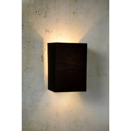 Coral Square black wall lamp with shade Lucide