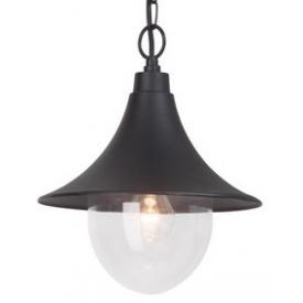 Stylowa Lampa zewnętrzna wisząca Berna 26 Czarna Brilliant przed dom, na taras i do ogrodu.