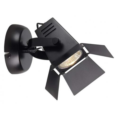 Stylowy Kinkiet industrialny Movie Black LED Brilliant do sypialni. Kolor czarny matowy