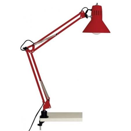 Stylowa Lampa biurkowa przykręcana Hobby Czerwona Brilliant na biurko od BlowUpDesign.pl