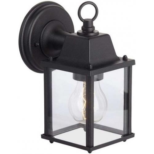 Stylowy Kinkiet zewnętrzny Irvin Brilliant. Jego kolor to czarny