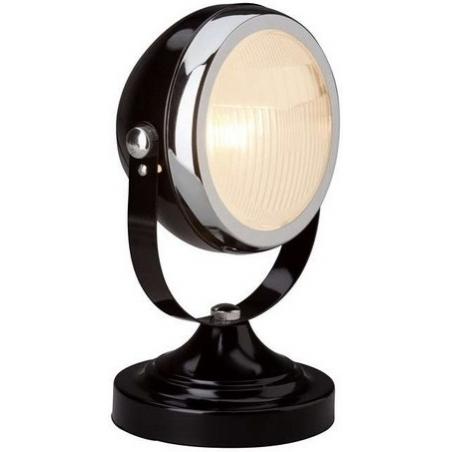 Designerska Lampa stołowa industrialna Rider 17 Brilliant do salonu. Kolor czarny