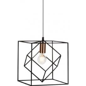 Stylowa Lampa wisząca druciana Tycho 25 Czarna Brilliant do salonu, sypialni i przedpokoju.