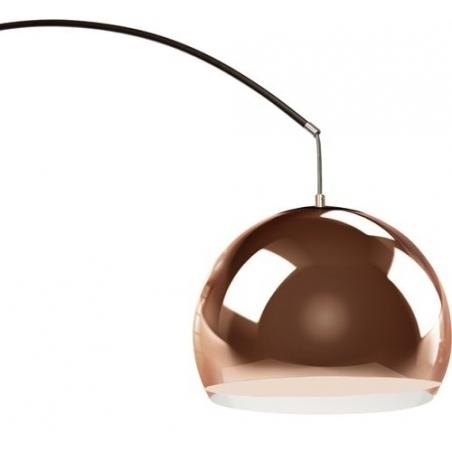 Stylowa Lampa podłogowa miedziana Nereide Copper Brilliant do czytania. Kolor miedziany. Styl inspirowane.