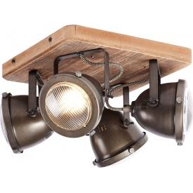 Industrialna Lampa wisząca Raw Metal 26 do salonu. Kolor: biały, rdzawa powłoka w cenie 159,00 PLN.