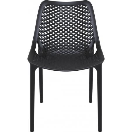 Air black plastic openwork chair Siesta