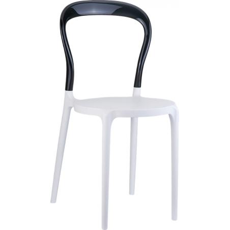 Designerskie Krzesło Bobo White z tworzywa Siesta do jadalni. Styl nowoczesny.