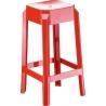 Fox 65 red modern bar stool Siesta