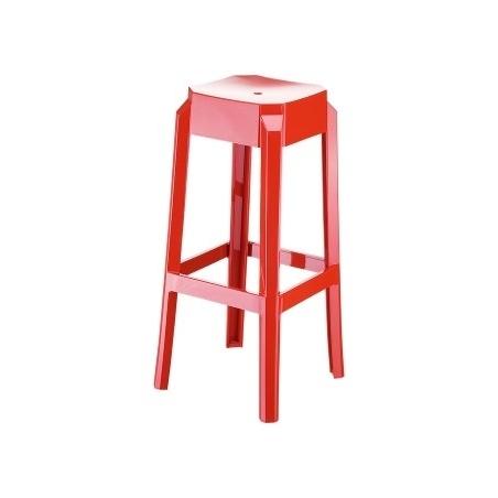 Designerski Stołek barowy Fox 75 Czerwony Siesta do kuchni.
