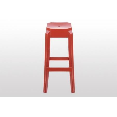Fox 75 red modern bar stool Siesta