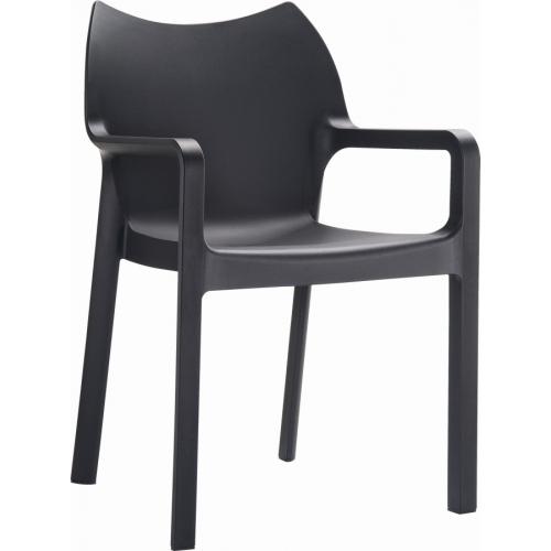 Ogrodowe Krzesło z podłokietnikami Diva Armchair Siesta. Kolor czarny