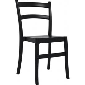 Ogrodowe Krzesło Tiffany z tworzywa Siesta. Kolor czarny
