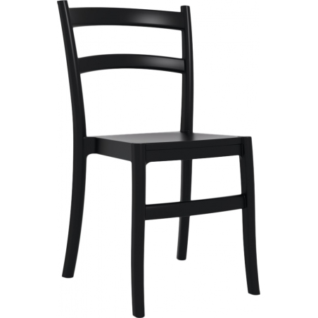 Tiffany black plastic garden chair Siesta