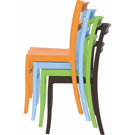 Stylowe Krzesło ogrodowe plastikowe Tiffany Czarne Siesta na taras i do restuaracji.