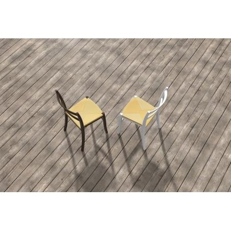 Ogrodowe Krzesło Tiffany S z tworzywa Siesta. Kolor biały