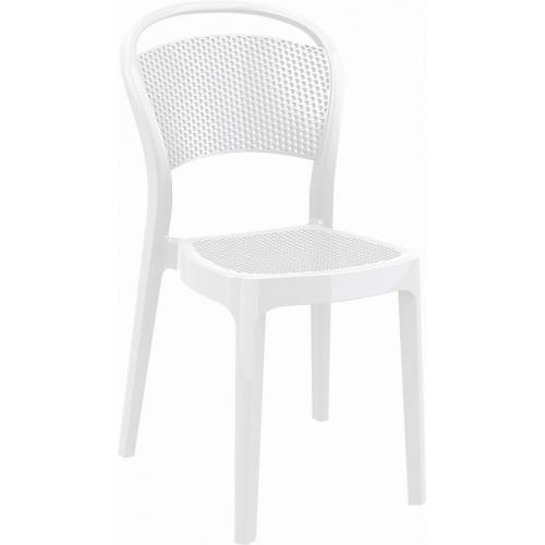 Ogrodowe Przezroczyste krzesło Bee z tworzywa Siesta. Kolor biały